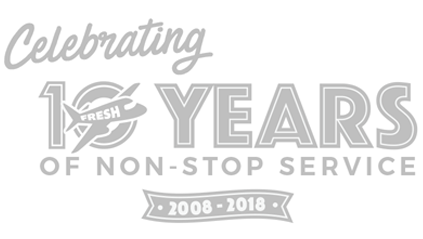 Celebrating 10 years of non-stop service