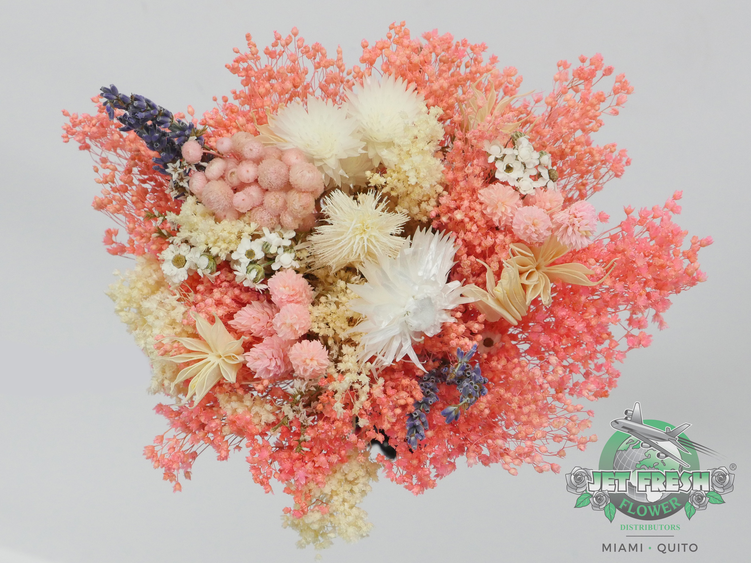 Dried Light Pink Assorted Bouquets