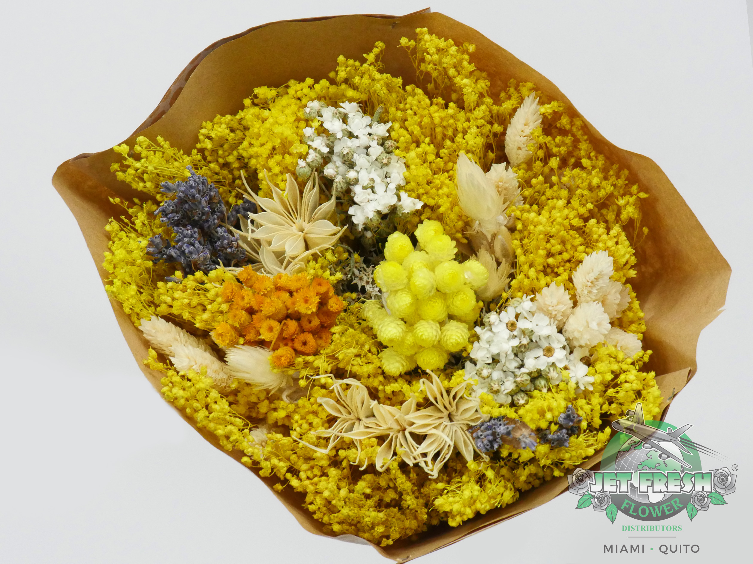 Dried Yellow Assorted Bouquets